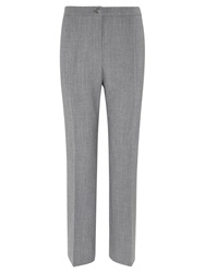 Viyella Wool Blend Straight Leg Trousers Silver Grey