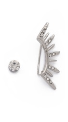 Jules Smith Designs Spike Left Ear Climber And Stud Set Clear Silver
