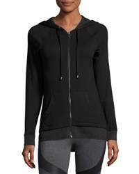 Marc New York Thermal Trim Hooded Sweatshirt Black