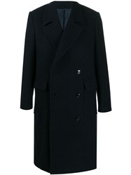 Massimo Piombo Mp Double Buttoned Overcoat Blue