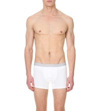 Hanro Pack Of Two Cotton Jersey Trunks White Grey