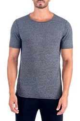 Unsimply Stitched Super Soft Relaxed Neck Short Sleeve Lounge Tee Gray