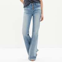 Madewell Flea Market Flares Button Front Edition