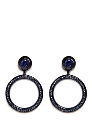 Eddie Borgo 'Voyager' Cubic Zirconia Hoop Earrings Black