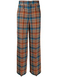 Dorothee Schumacher Prince Of Wales Check Trousers Neutrals