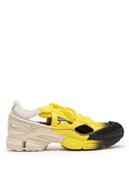 Raf Simons X Adidas Replicant Ozweego Mesh And Leather Trainers Yellow Multi