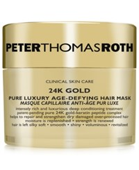 Peter Thomas Roth 24K Gold Pure Luxury Hair Mask Treatment No Color