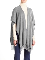 Joie Ucrece Wool And Cashmere Shawl Light Heather Grey