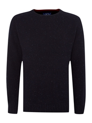 Criminal Ennis Crew Neck Jumper Denim Marl