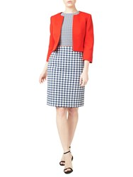 Precis Petite Textured Cropped Jacket Coral Red