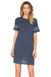 Monrow Sporty Oversized Tee Dress Blue