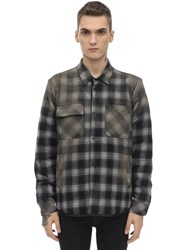 Giorgio Brato Oversize Cotton Blend Shirt Jacket Grey