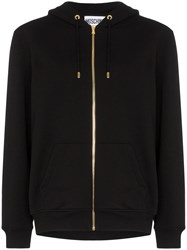 Moschino Sequin Teddy Zip Up Hooded Jumper Black