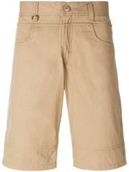 Publish Stitch Detail Chino Shorts Brown
