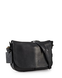 Polo Ralph Lauren Core Leather Messenger Bag Black