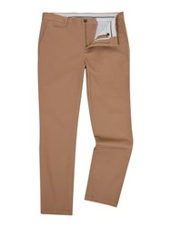 Linea Chelsea Regular Fit Chino Trousers Biscuit
