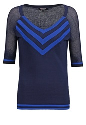 Morgan Mroux Long Sleeved Top Marine Dark Blue