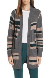 Brochu Walker Marlowe Cardigan Smoke Intarsia