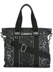 Dolce And Gabbana Leopard Print Shopper Black