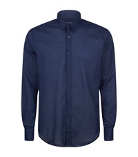 Vilebrequin Caracal Cotton Shirt Male Navy