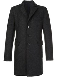 Harris Wharf London Buttoned Single Breasted Coat Grey