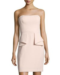 Aidan Mattox Strapless Sheath Dress W Peplum Light Pink