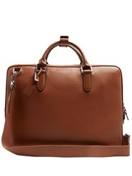 Smythson Burlington Grained Leather Briefcase Tan
