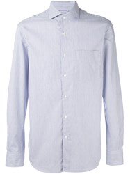 Aspesi Striped Chest Pocket Shirt Blue