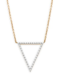 Wrapped Diamond Accent Triangle Pendant In 10K Gold