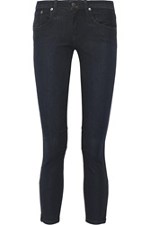 Helmut Lang Waxed Mid Rise Skinny Jeans
