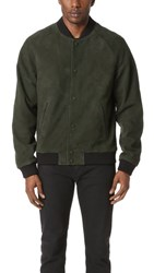 Scotch And Soda Suede Bomber Jacket Jungle Green