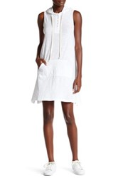Allen Allen Sleeveless Trapeze Shirt Dress White