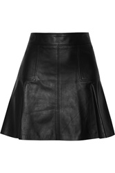 Belstaff Lochdon Leather Mini Skirt Black
