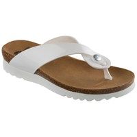 Scholl Kenna Toe Post Flip Flops White