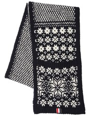 Thom Browne Snowflake Wool And Mohair Scarf W Pockets