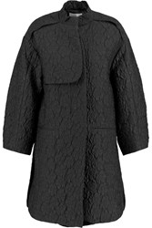 Issa Cherry Jacquard Coat Black