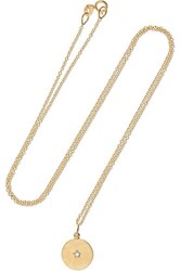 Andrea Fohrman Full Moon 18 Karat Gold Diamond Necklace