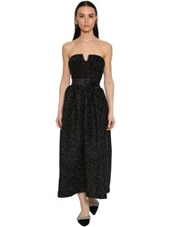 Daniele Carlotta Lurex Off Shoulder Corset Midi Dress Black