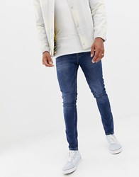Only And Sons Skinny Washed Blue Jeans