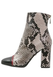 Just Cavalli High Heeled Ankle Boots Grey