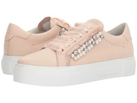Kennel Schmenger And Big Pearl Sneaker Nude Nappa Pearls Shoes Orange