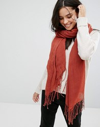 Only Oversized Scarf Red