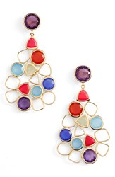 Argentovivo Women's Argento Vivo Statement Earrings Rainbow