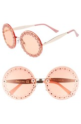Sam Edelman Circus By 60Mm Round Sunglasses Rose Gold Rose Gold