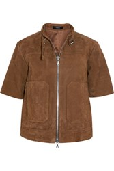 Theory Lavzinie Suede Jacket Camel
