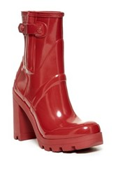 Hunter Original High Heel Gloss Boot Red