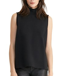 Ralph Lauren Sleeveless Mockneck Top Black