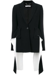 Givenchy Flared Panel Blazer Women Spandex Elastane Viscose 38 Black
