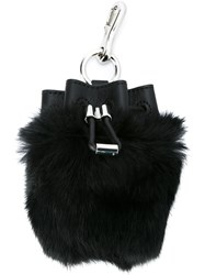 Alexander Wang Drawstring Bucket Bag Keyring Black