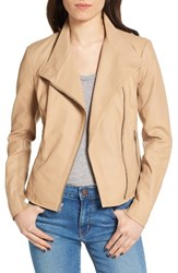 Andrew Marc New York Women's Felicia Asymmetrical Zip Leather Jacket Twine